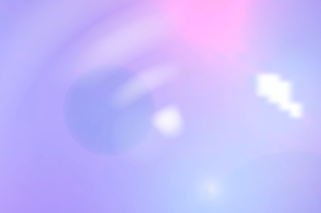 Esthetische blauwe spectrumlensflare op paarse achtergrond