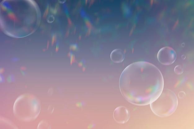 Esthetische heldere bubbels banner achtergrond