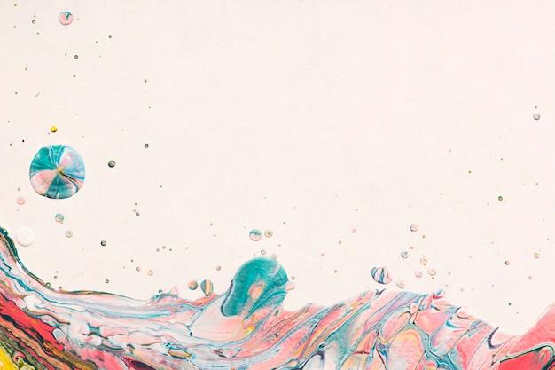 Esthetische kleurrijke achtergrond handgemaakte experimentele kunst