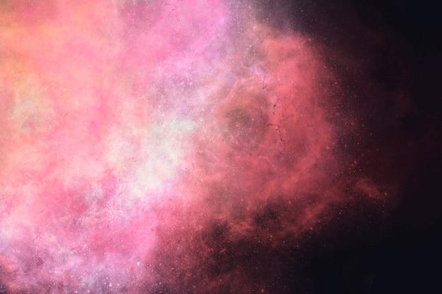 Esthetische melkweg op zwarte achtergrond