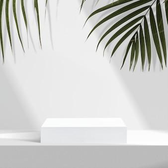 Esthetische productachtergrond, palmbladeren