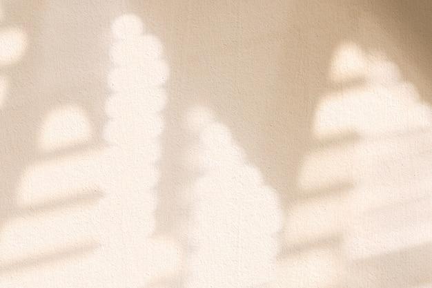 Esthetische raamschaduw beige op textuurachtergrond
