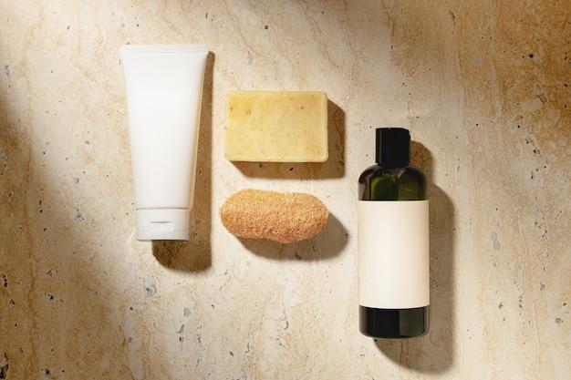 Esthetische spa essentials achtergrond, woondecoratie