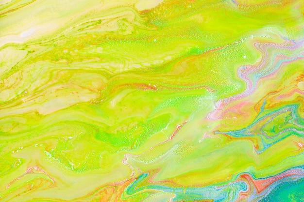 Esthetische vloeibare marmeren groene achtergrond diy experimentele kunst