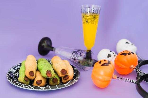 Eten en drinken voor halloweeen-feest