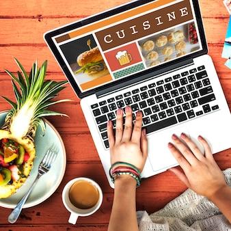 Eten menu eetlust cuisine concept