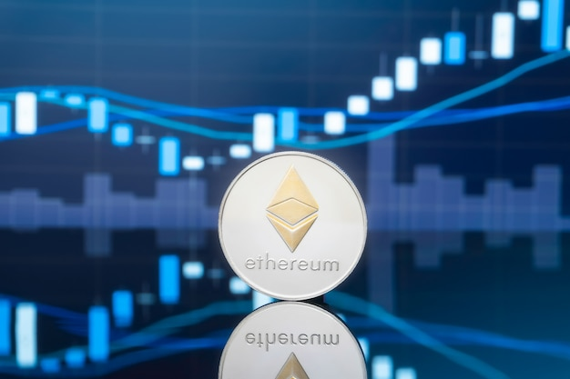 Ethereum en cryptocurrency beleggen concept.