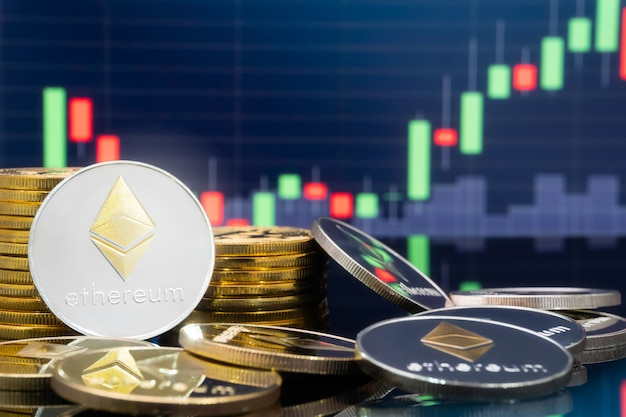 Ethereum en cryptocurrency beleggen concept.