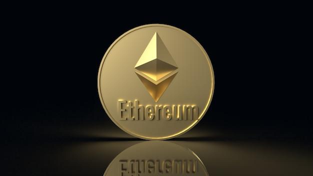 Ethereum muntsymbool cryptocurrency 3d-rendering