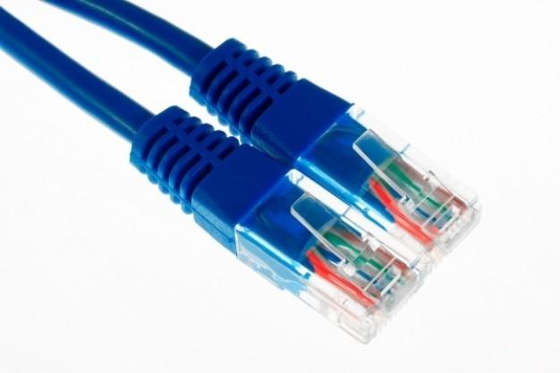 Ethernet kabels close up
