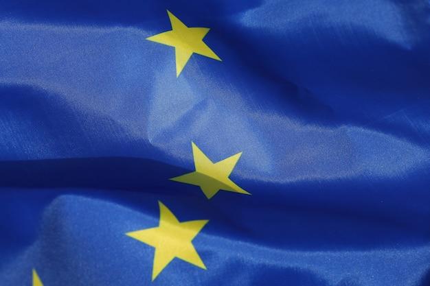 Eu-vlag zijde close-up
