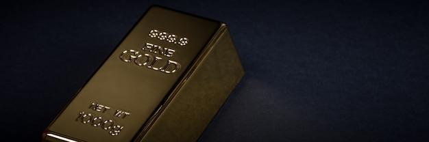 Euro contant geld en gouden staaf op een zwarte achtergrond