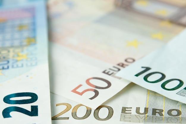 Euro geld. euro contante achtergrond. euro geld bankbiljetten
