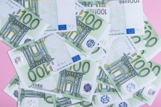 Euro geld. euro contante achtergrond