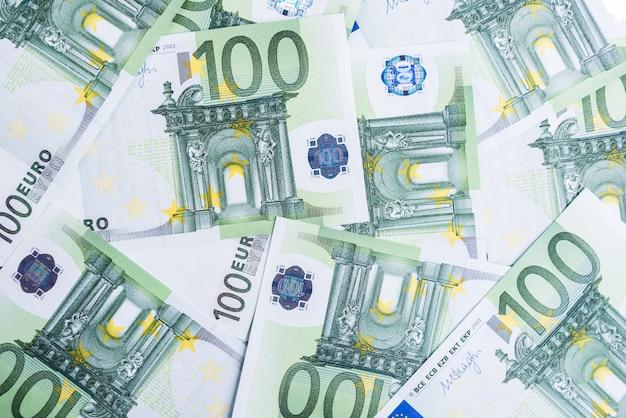 Euro geld. euro geldruimte. geld eurobankbiljetten.