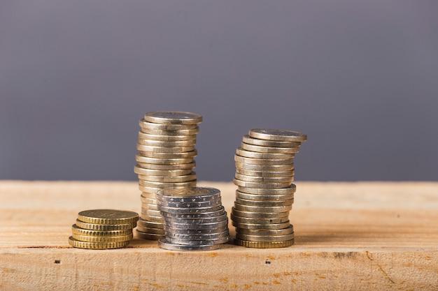 Euro munten stapel