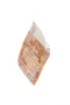Euro op wit wordt geïsoleerd