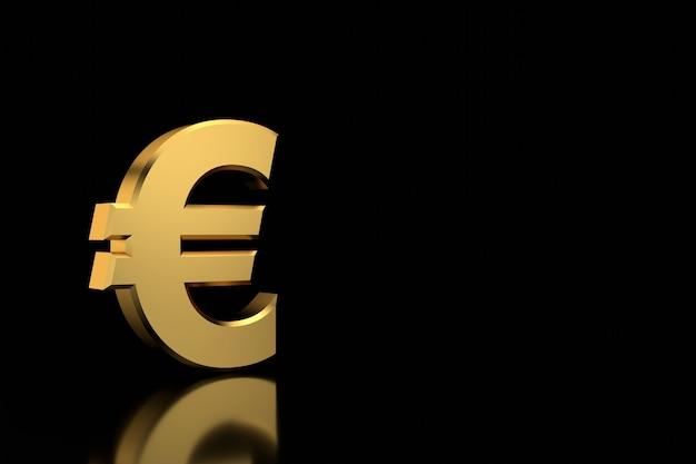 Euro teken banner. 3d-weergave.
