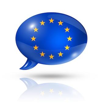Europese unie vlag tekstballon