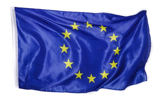 Europese vlag op wit