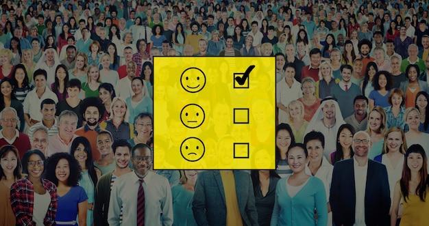 Evalueer evalueren evaluatie statistieken questionaire concept