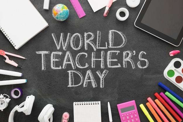 Evenement voor de dag van de wereldleraar