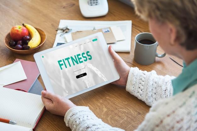 Evenwicht dieet fitness gezond voedsel leven concept
