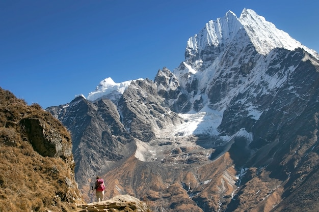 Everest-basiskampregio in de winter