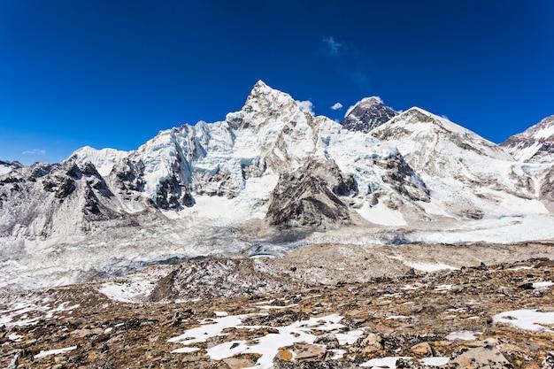 Everest landschap, himalaya