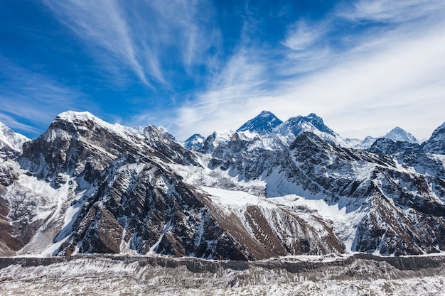 Everest landschap, himalaya
