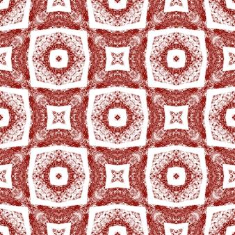 Exotisch naadloos patroon. wijn rode symmetrische caleidoscoop achtergrond. zomer badmode exotisch naadloos ontwerp. textiel klaar heerlijke print, badmode stof, behang, inwikkeling.