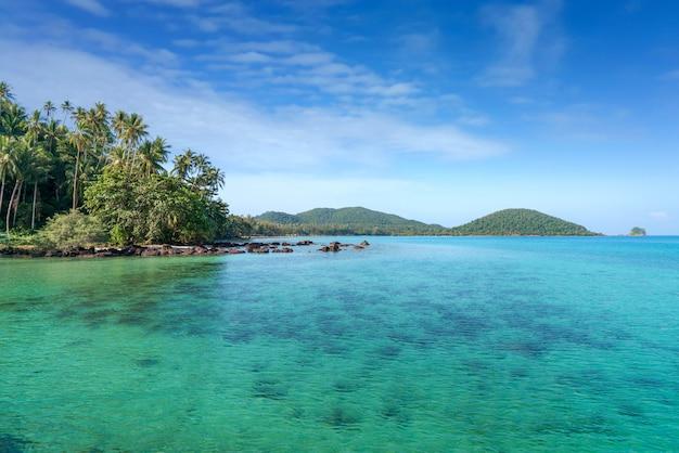 Exotisch tropisch strandlandschap voor of behang