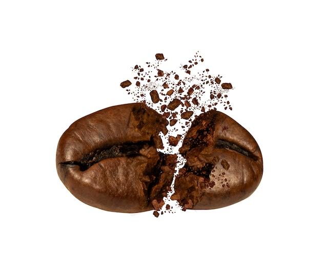 Explosie van gebrande koffiebonen