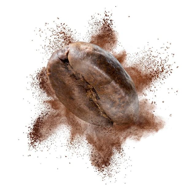 Explosie van gemalen koffiebonen