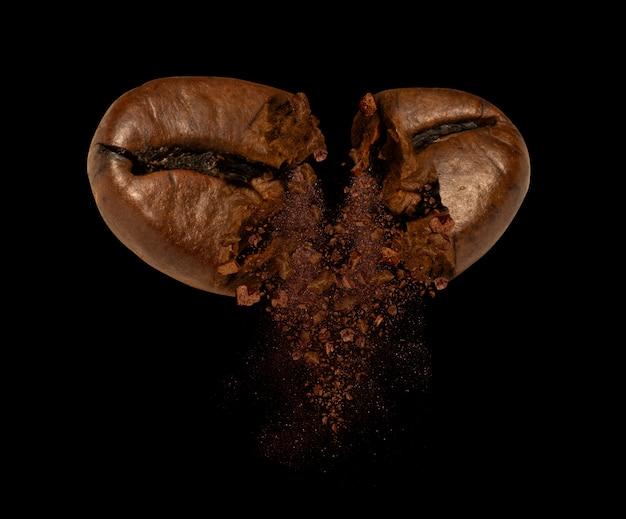 Explosie van koffieboon