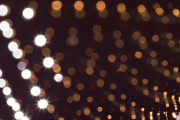 Extreem close-up ferromagnetisch metaal in gouden kleuren