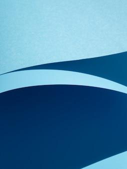 Extreem close-up gebogen papier gesneden stijl