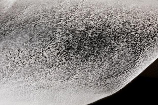 Extreem close-up getextureerd grijs leer