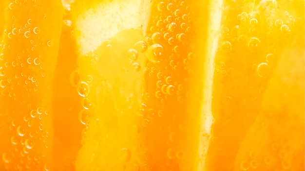 Extreem close-up oranje fruit