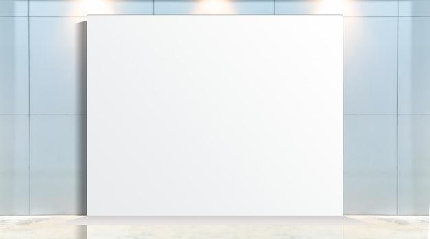 Fabric pop up basiseenheid reclamebanner media display achtergrond, lege achtergrond