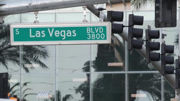 Fabulos las vegas, verkeersbord op the strip in sin city of usa