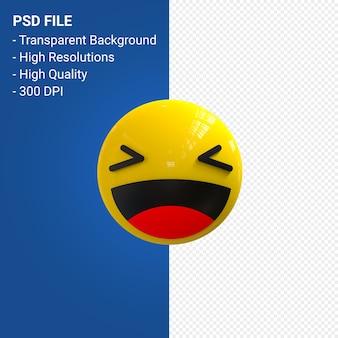 Facebook 3d emoji-reacties leuk geïsoleerd
