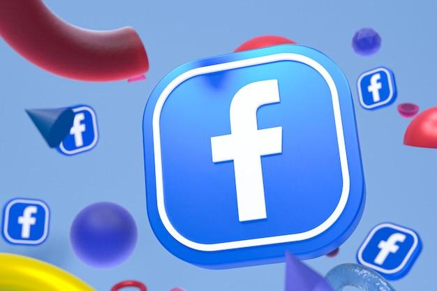 Facebook ig-logo op abstracte geometrie