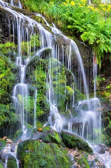 Fahler waterval in de bergen van het zwarte woud. baden wurttemberg, duitsland