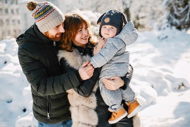 Familie in een park