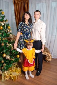 Familie in het nieuwe jaar