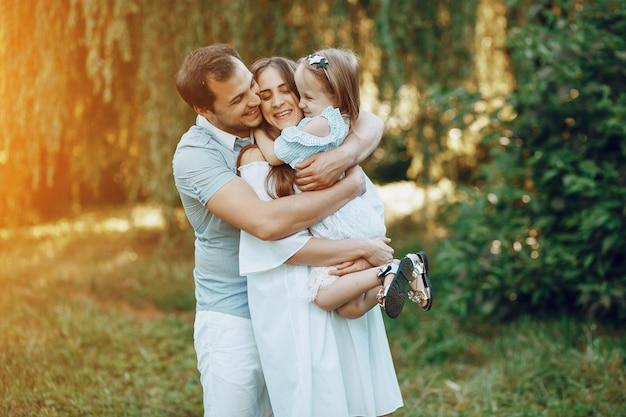Familie op een park