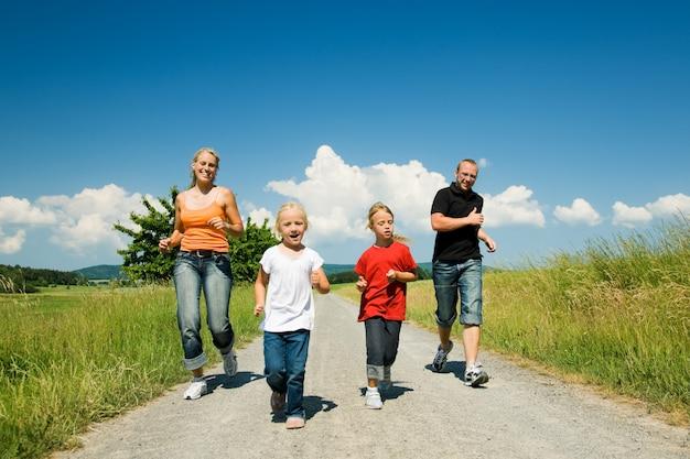 Familie rennen