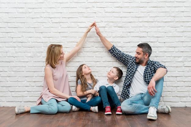 Familie thuis