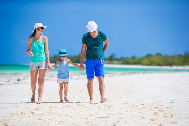 Familie vakantie op het strand